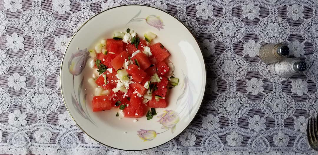 Watermelon salad Buffalo Harmony House
